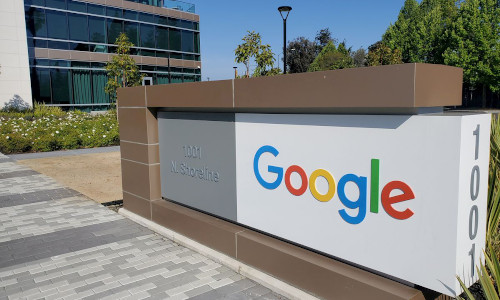 A Google office near the company's headquarters in Mountain View, CA.